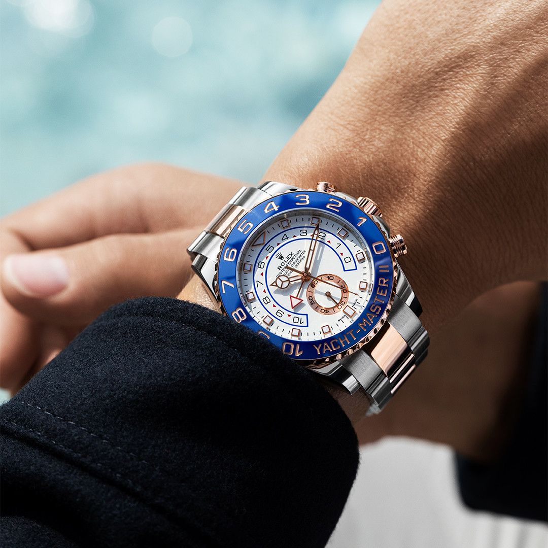 gold replica rolex yacht-master watches